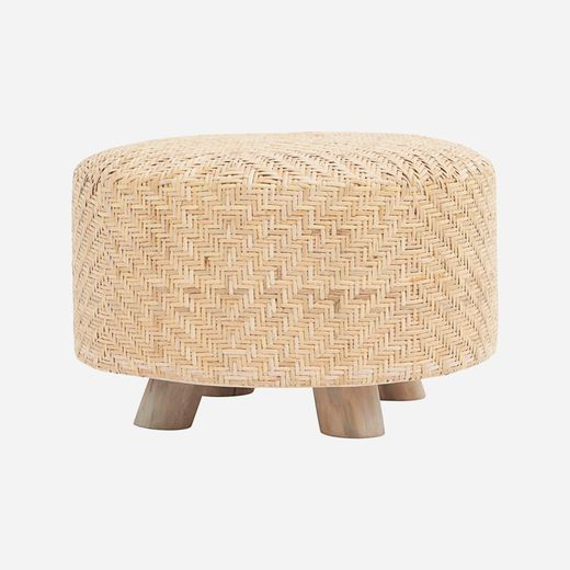 House Doctor Weave pouf rah